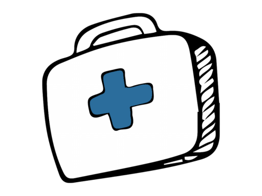 Illustration of a first aid kit.