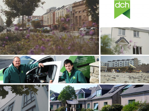 Collage of images for dch housing association.