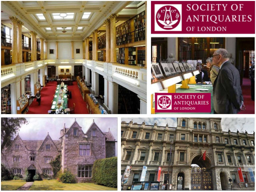 Collage of images related to society of antiquaries of london.