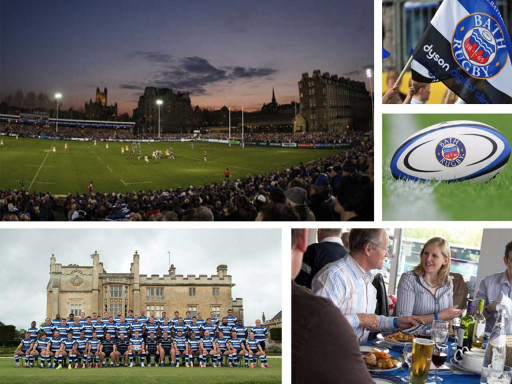Collage of images for bath rugby.